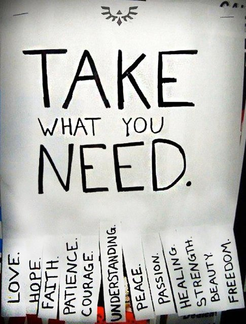 A -Take What You Need