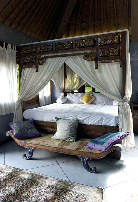 Balinese bedroom Style Traditionl Home