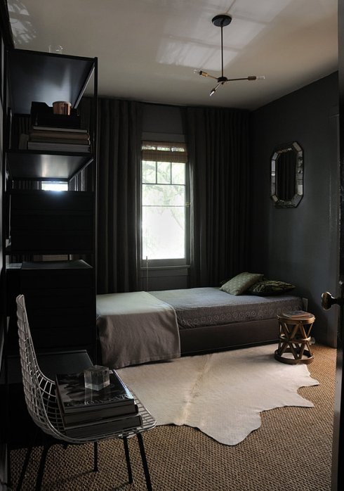 Drama on walls in 2014  such as dark shade of gray, navy, or even black..